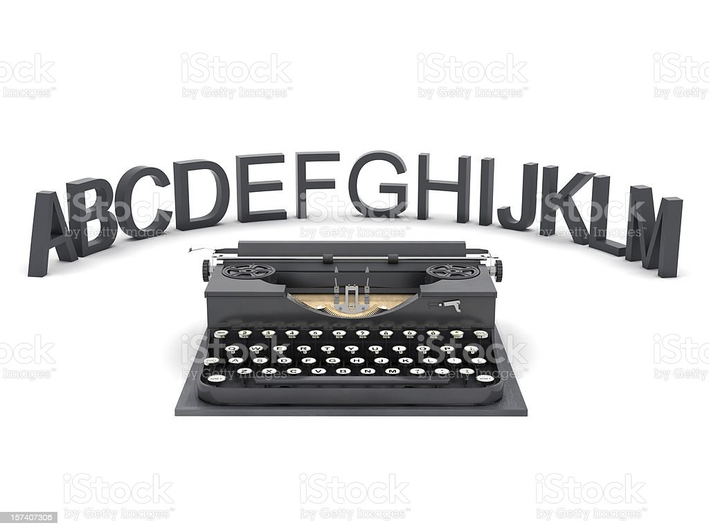 Typewriter and letters royalty-free stock photo