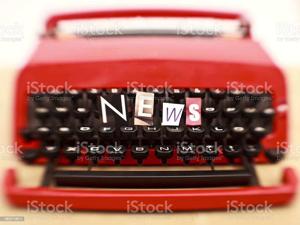 Typewriter and news royalty-free stock photo