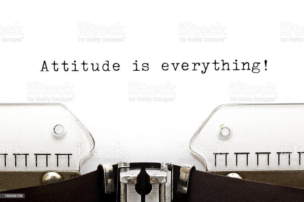 Typewriter Attitude is Everything royalty-free stock photo