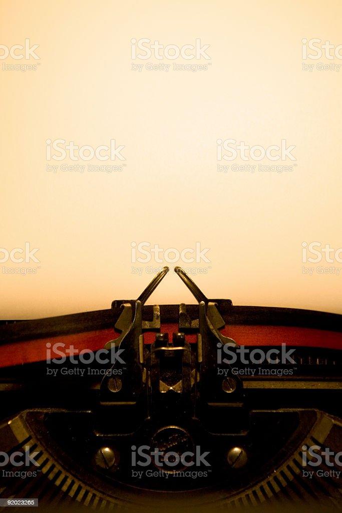 Typewriter - Blank Page stock photo