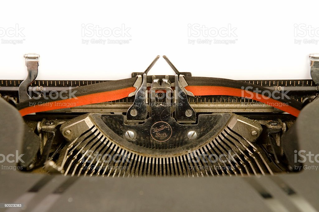 Typewriter - Blank Page royalty-free stock photo