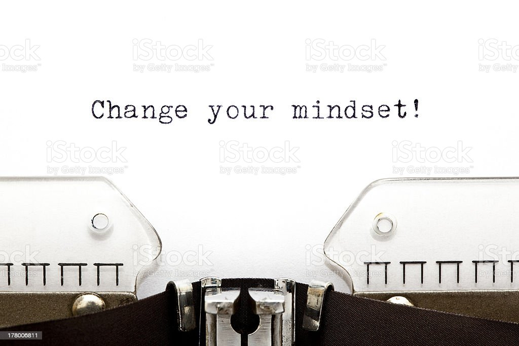 Typewriter Change Your Mindset royalty-free stock photo