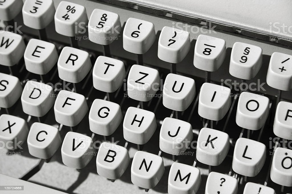 Typewriter, close-up royalty-free stock photo