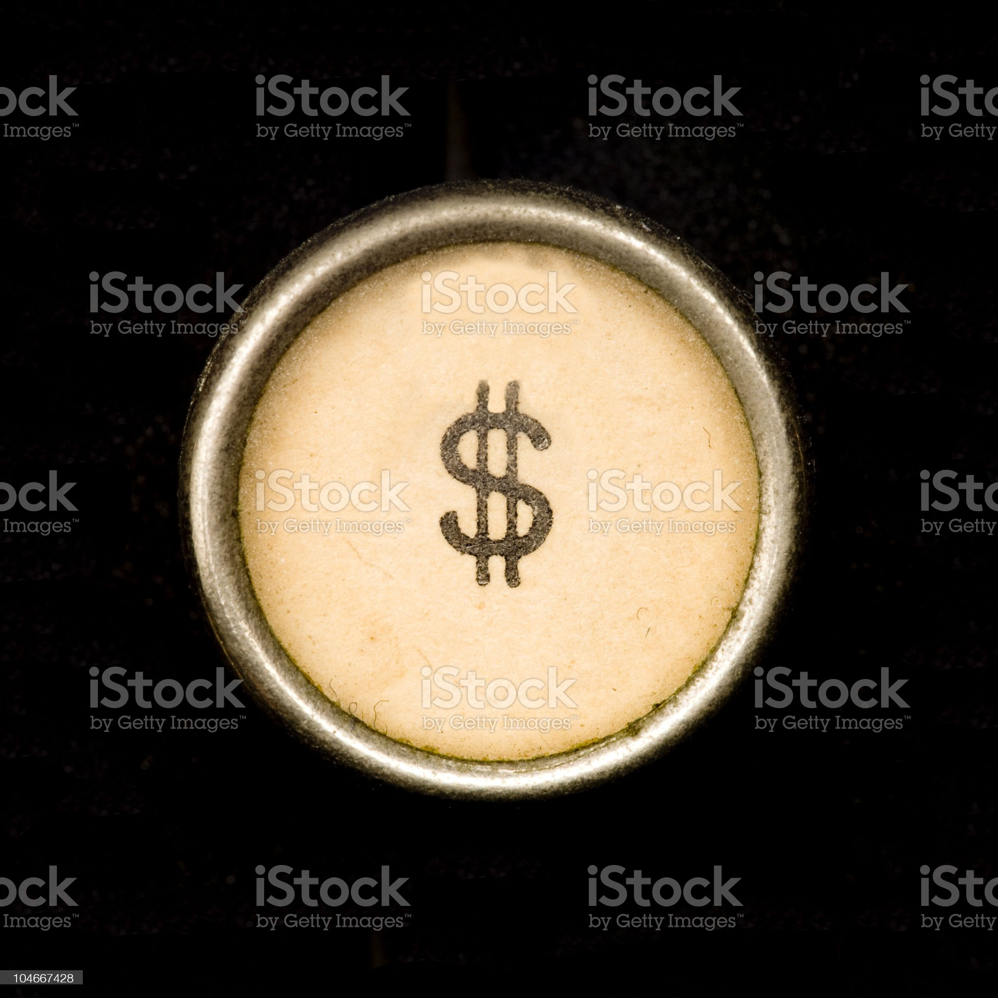 Typewriter dollar sign royalty-free stock photo