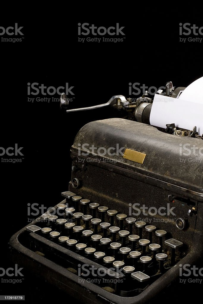 Typewriter dusty and old royalty-free stock photo