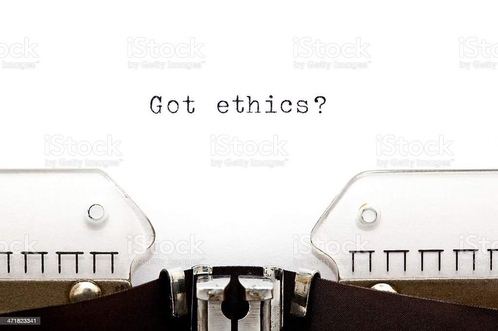 Typewriter Got Ethics royalty-free stock photo