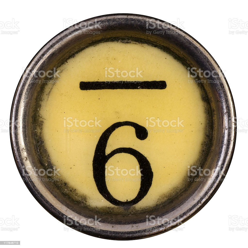 Typewriter Key 6 royalty-free stock photo