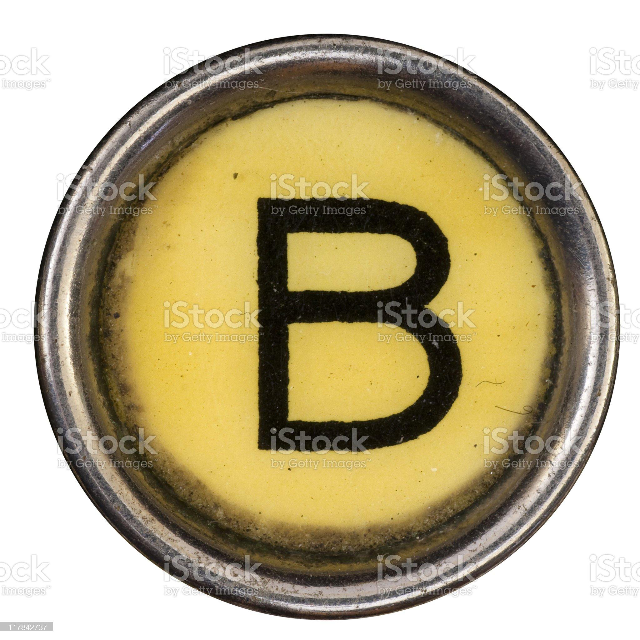 Typewriter Key B royalty-free stock photo