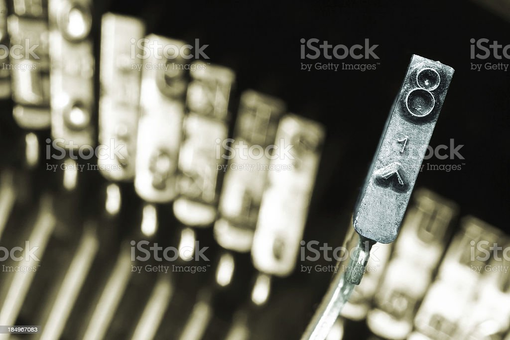 Typewriter key n. 8 royalty-free stock photo