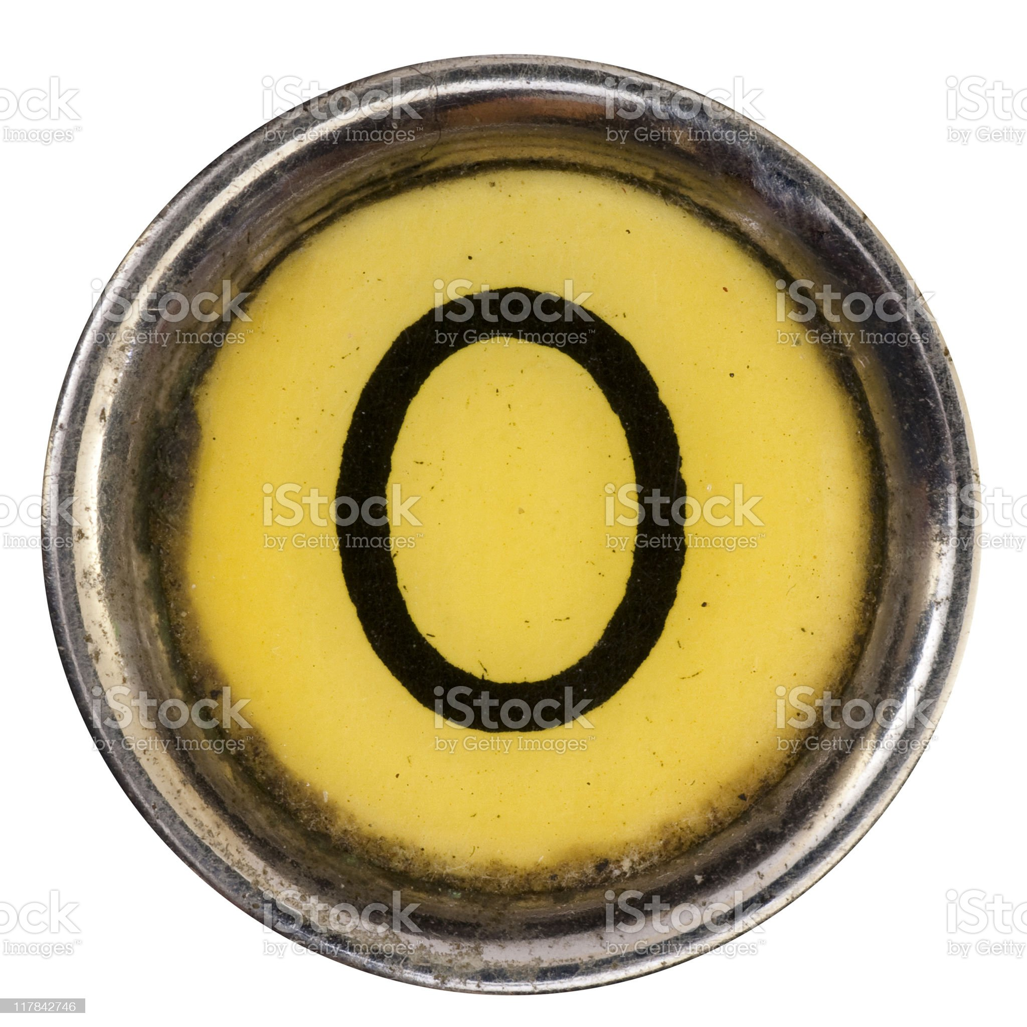 Typewriter Key O royalty-free stock photo