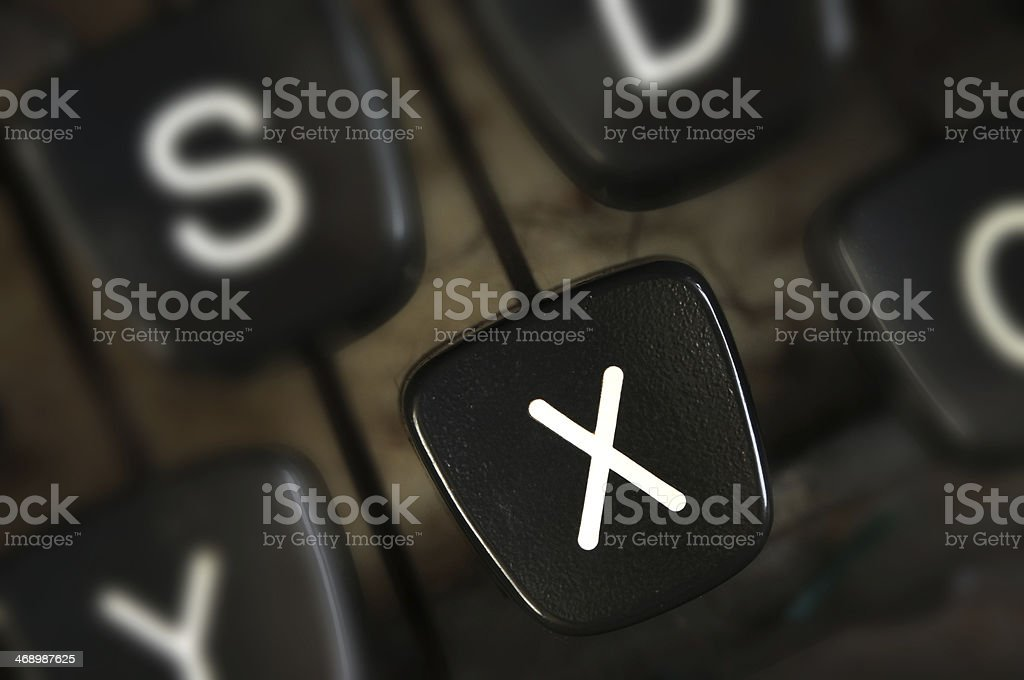 typewriter key stock photo