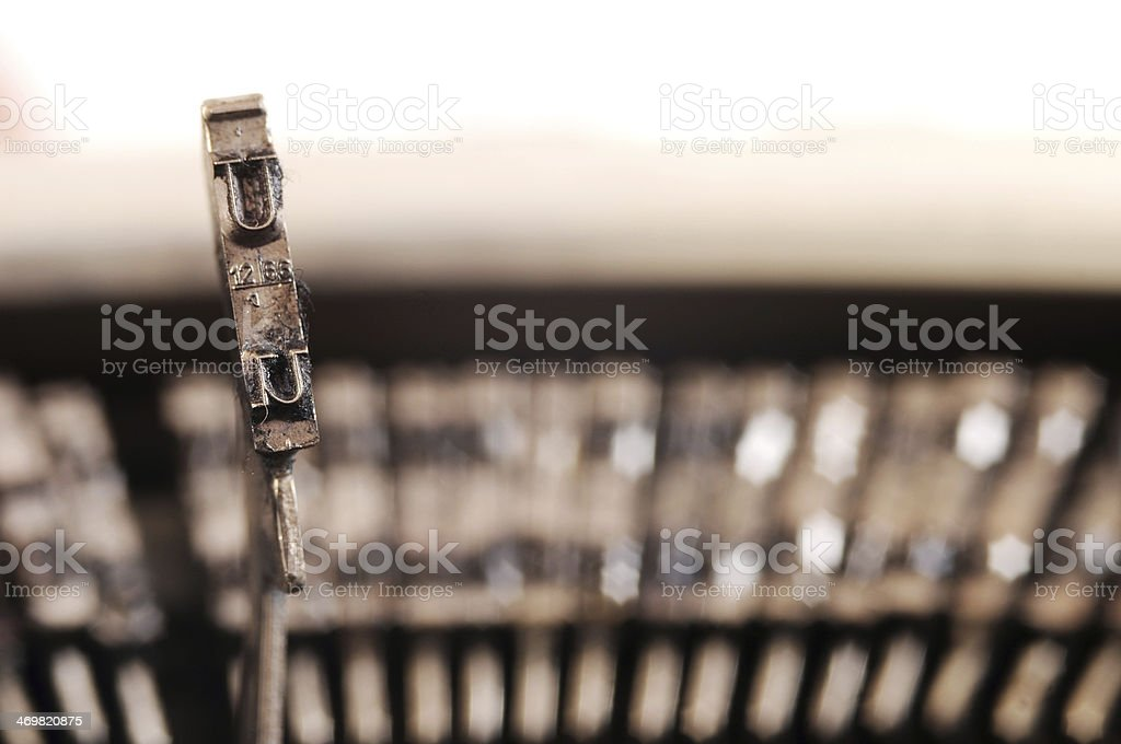 Typewriter key royalty-free stock photo