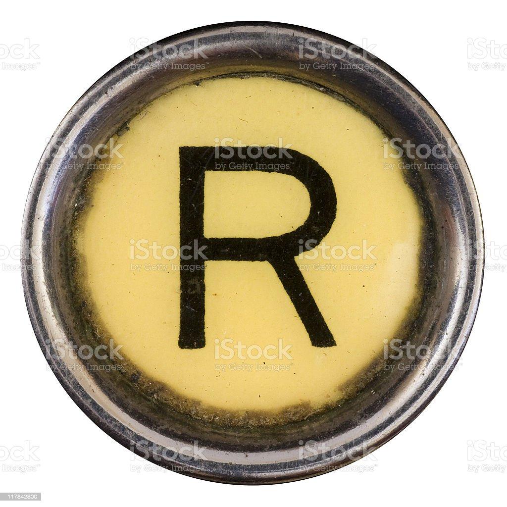 Typewriter Key R royalty-free stock photo