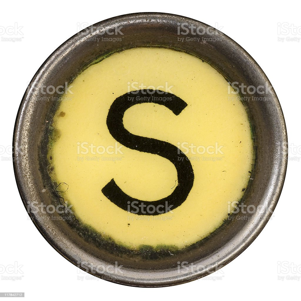 Typewriter Key S royalty-free stock photo