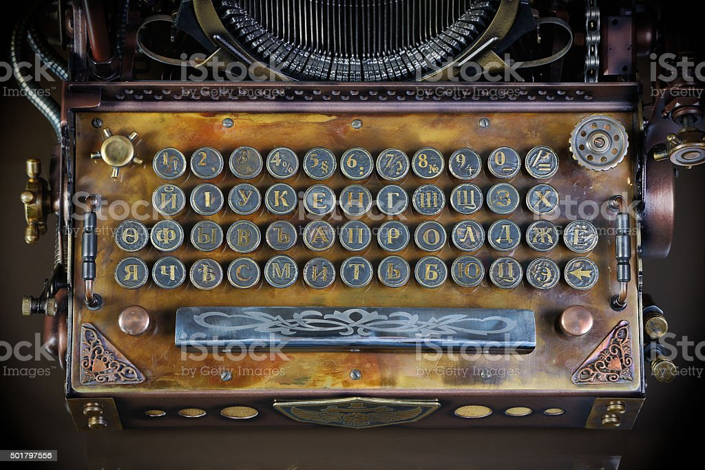 typewriter keyboard stock photo
