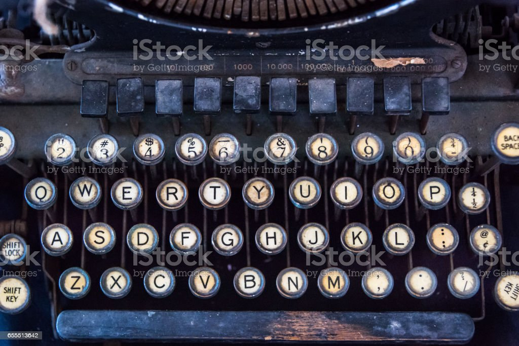typewriter keyboard stock photo