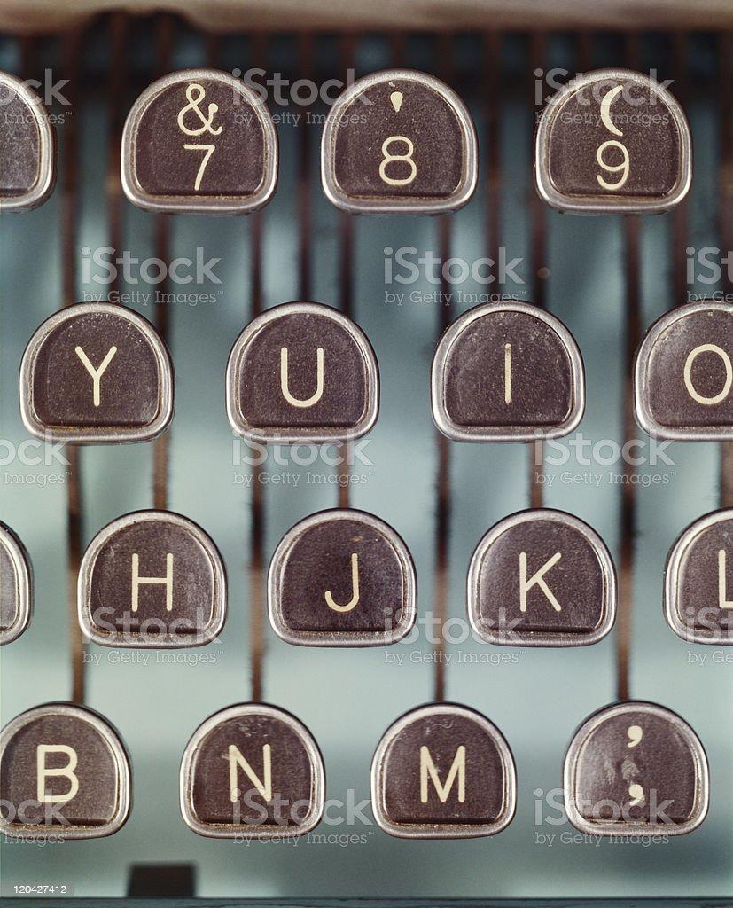 Typewriter keys, close-up royalty-free stock photo