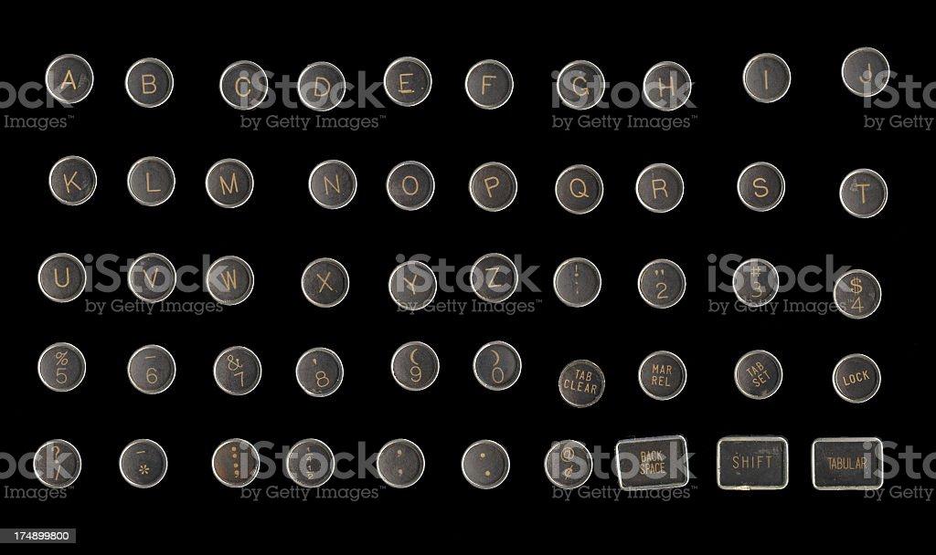 Typewriter Keys - Grunge royalty-free stock photo
