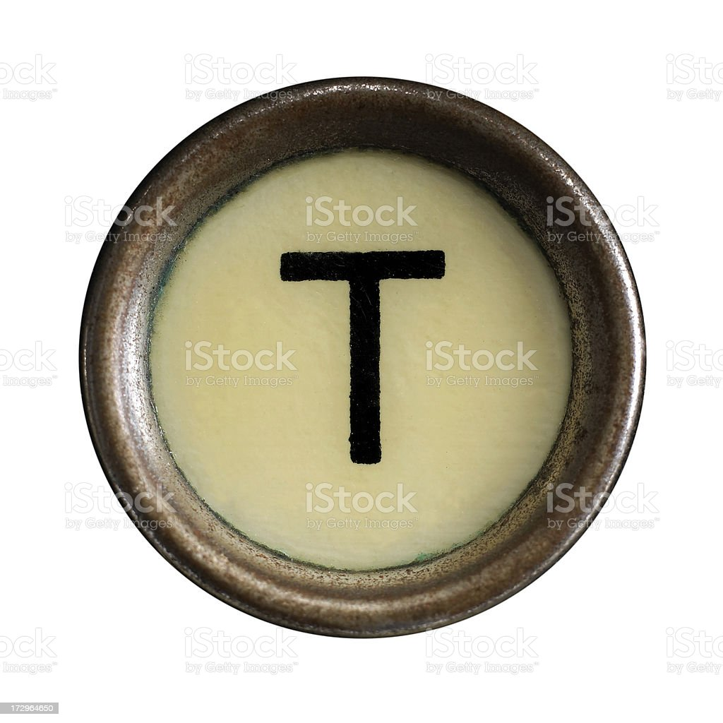 Typewriter keys royalty-free stock photo