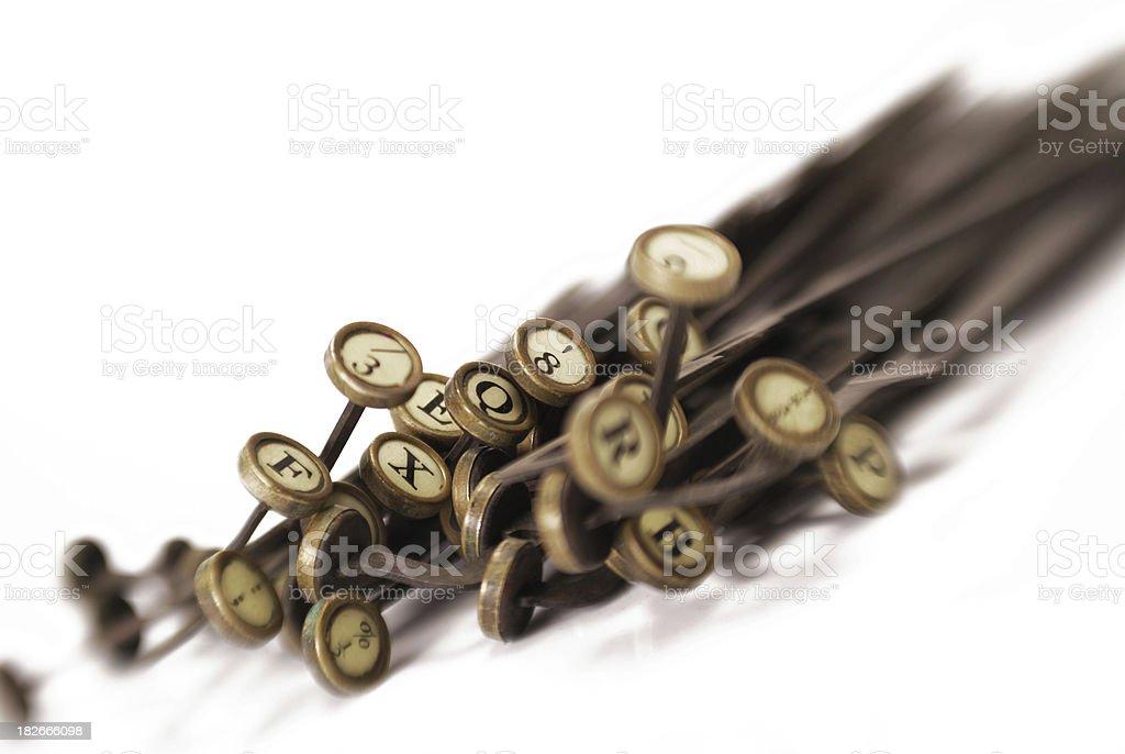 typewriter keys royalty-free stock photo
