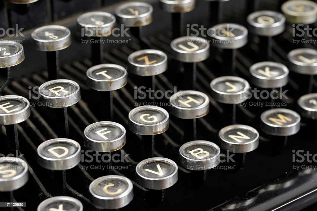 Typewriter Keys. stock photo