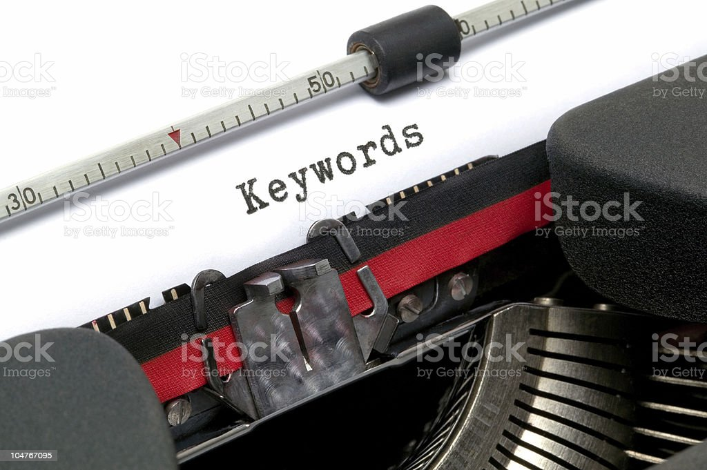 Typewriter Keywords royalty-free stock photo