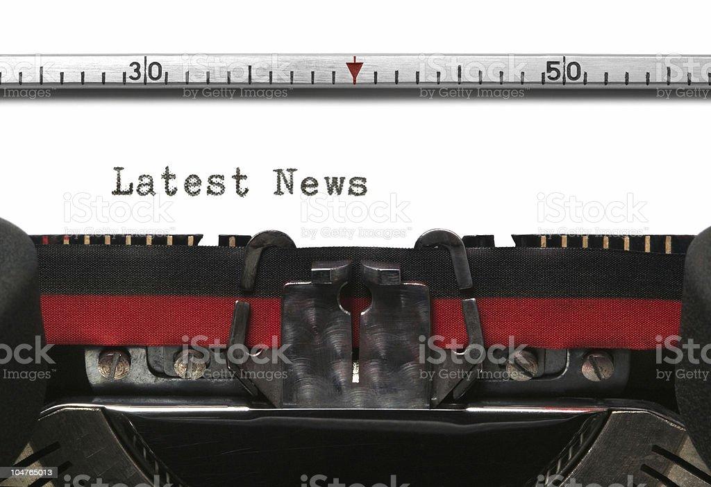 Typewriter Latest News royalty-free stock photo