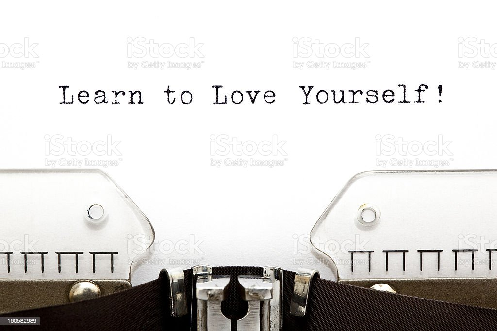 Typewriter Learn To Love Yourself royalty-free stock photo