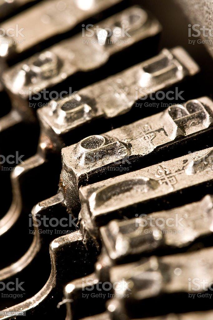 typewriter letter d royalty-free stock photo