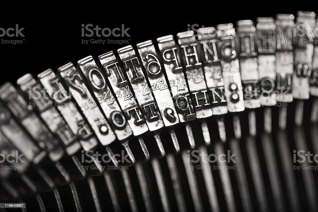 Typewriter letter typebar royalty-free stock photo