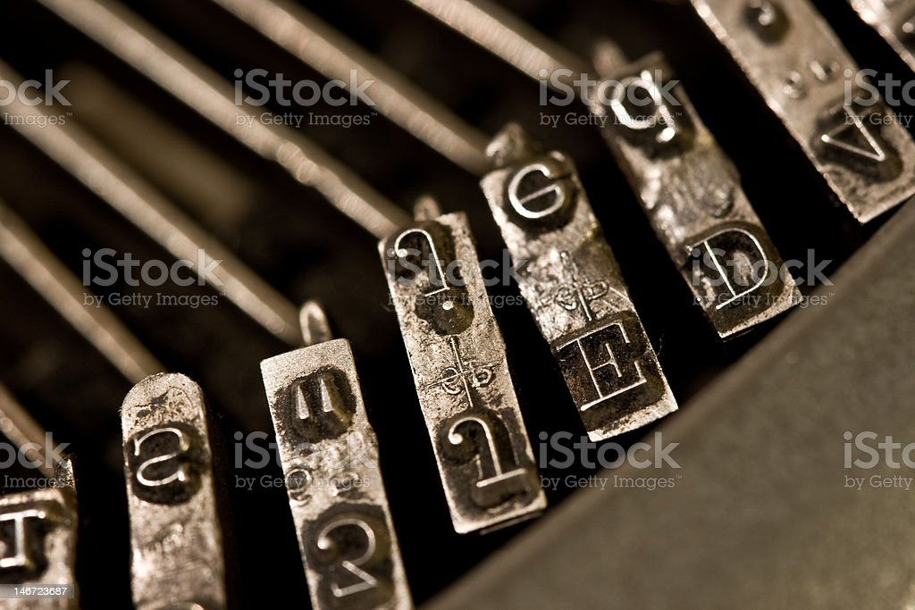 typewriter letters E D royalty-free stock photo