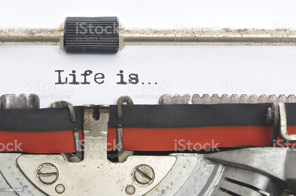 Typewriter - Life is royalty-free stock photo