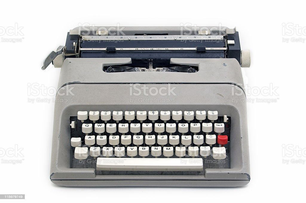 Typewriter machine stock photo