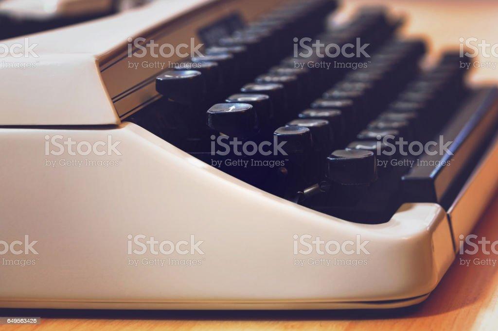 Typewriter macro close up. stock photo