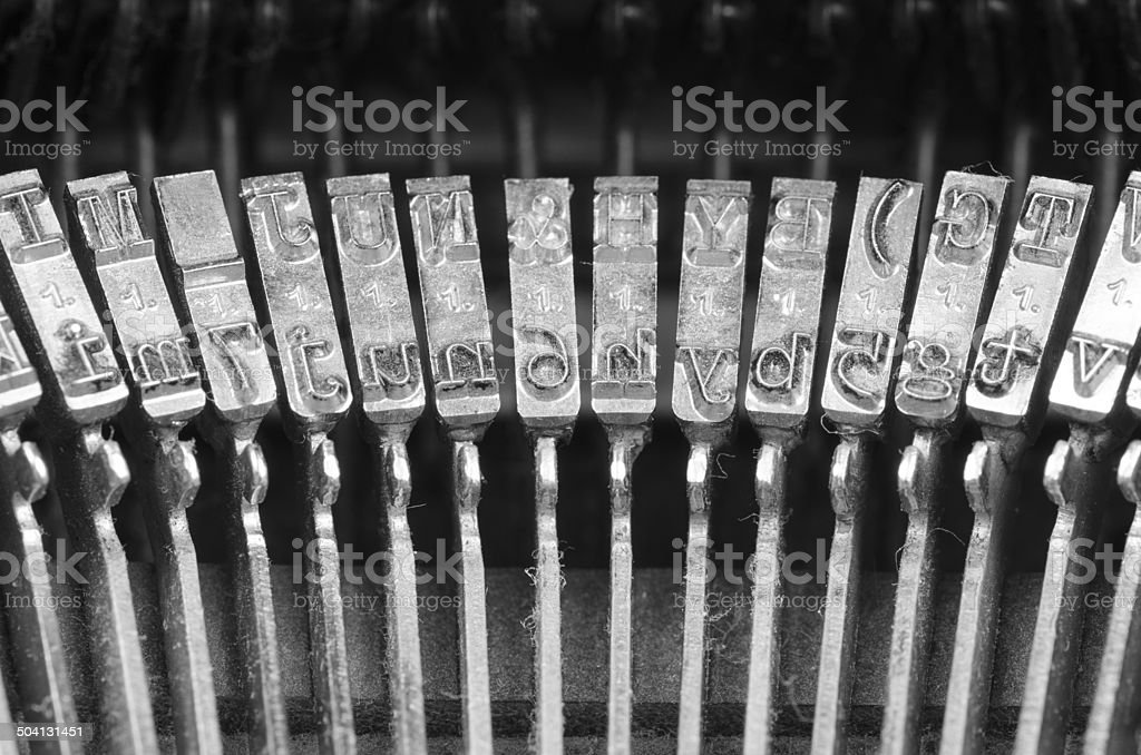 Typewriter mechanism royalty-free stock photo