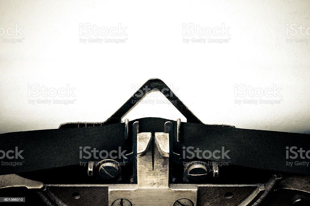 Typewriter message blank space stock photo