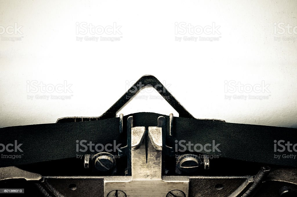Typewriter message blank space stock photo