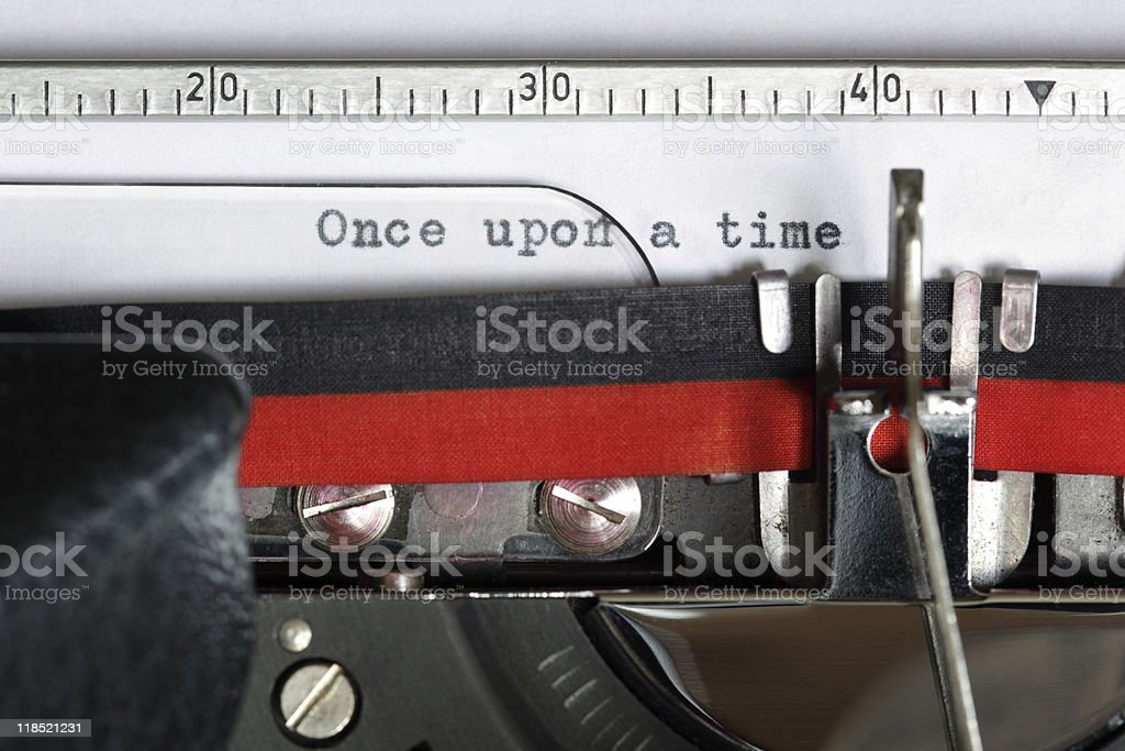 Typewriter - Once upon a time royalty-free stock photo