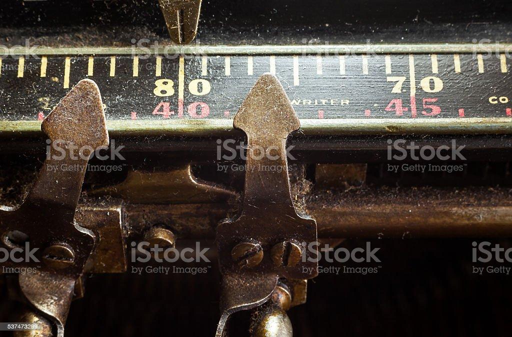 Typewriter Part stock photo