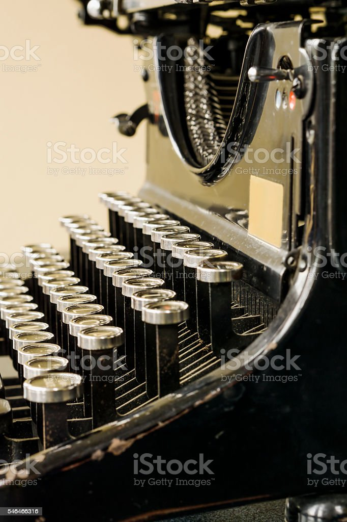 Typewriter stock photo
