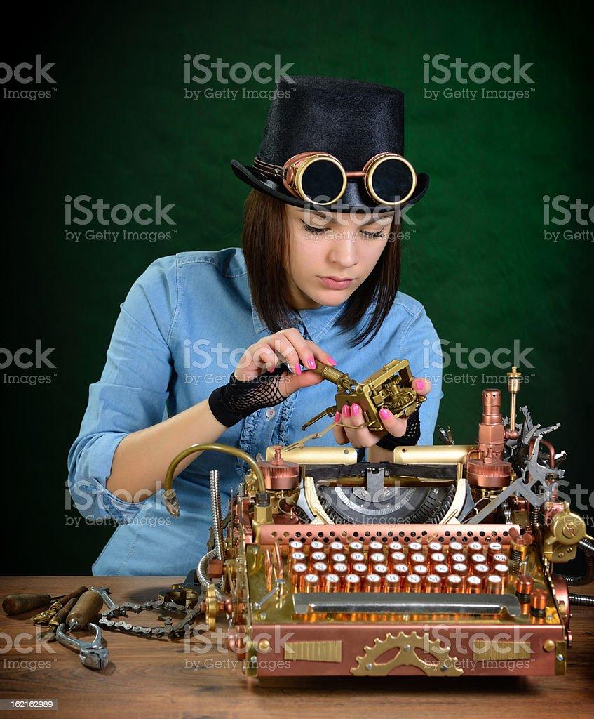 Typewriter repair. royalty-free stock photo
