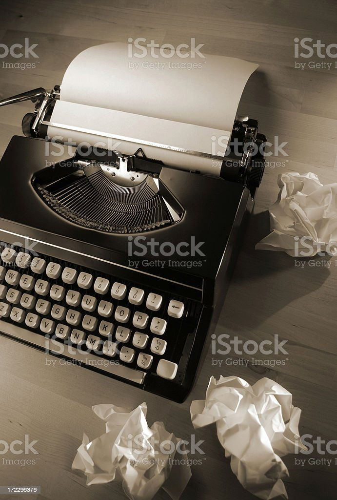 typewriter series royalty-free stock photo