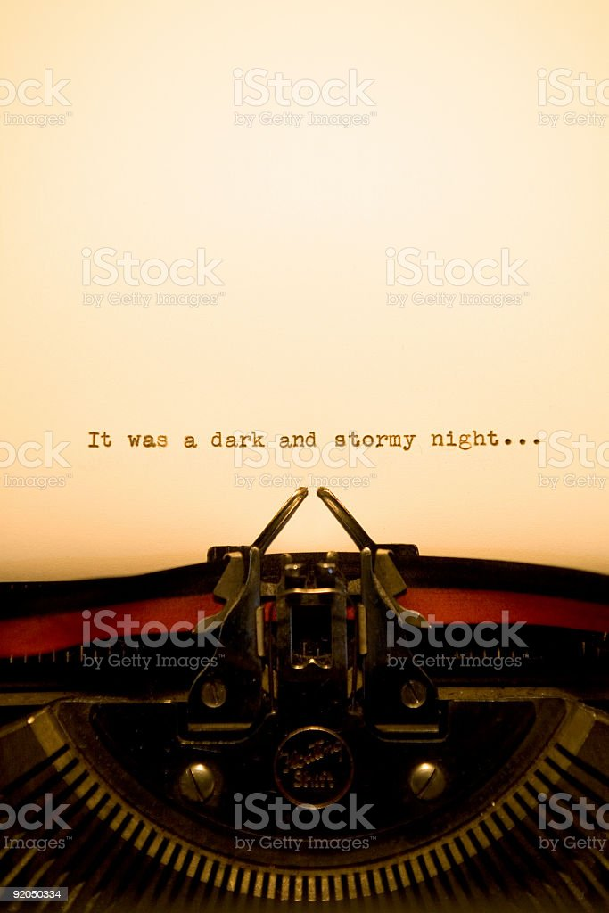 Typewriter - Short Story royalty-free stock photo