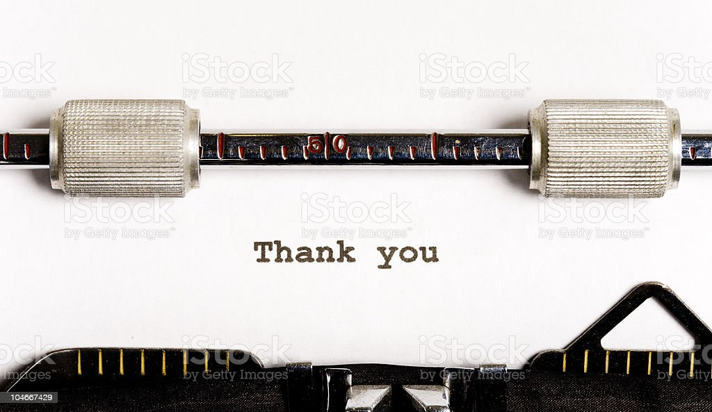 Typewriter text royalty-free stock photo