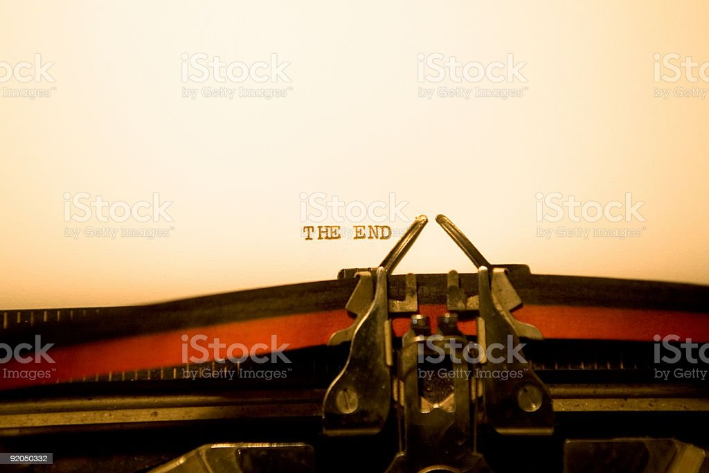 Typewriter - The End royalty-free stock photo