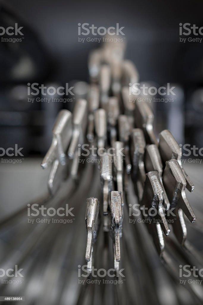 Typewriter typebars Chaos stock photo