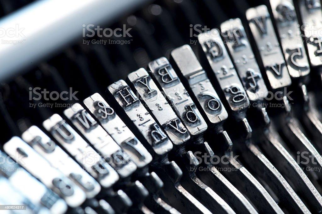 Typewriter typebars royalty-free stock photo