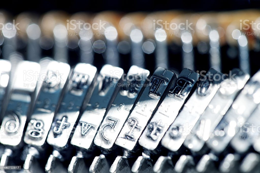 Typewriter typebars royalty-free stock photo