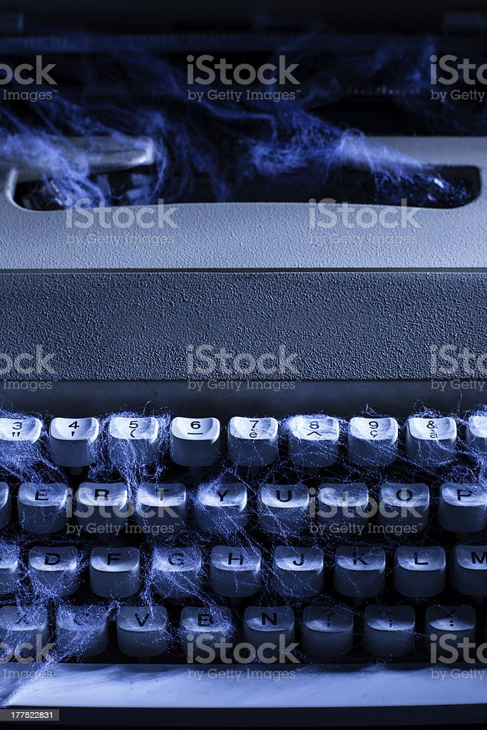 Typewriter with Spider Web royalty-free stock photo