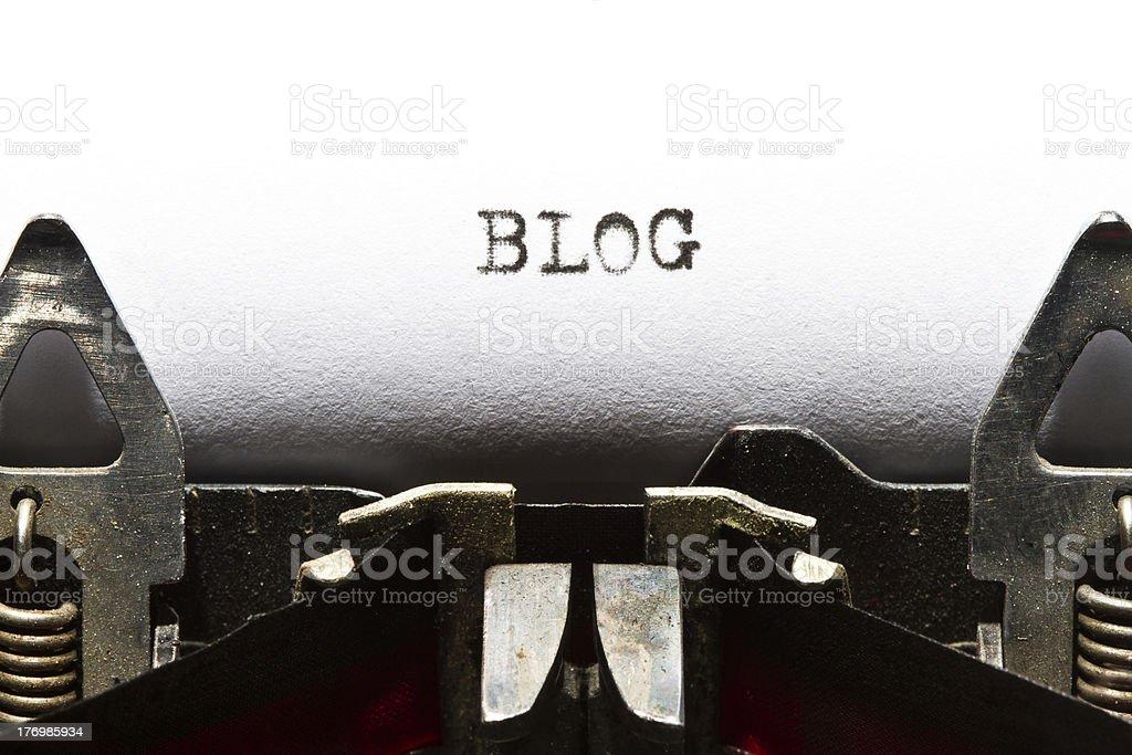 typewriter with text blog royalty-free stock photo